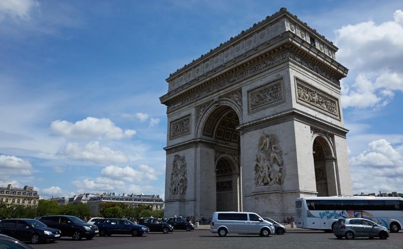 パリ・スイス旅2014 -2日目- パリ観光 前半 トラムT3から凱旋門