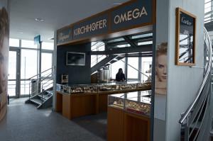 商魂たくましく、展望台の横は時計売り場。スイスでは観光地価格はなくて普通の値段らしいけどホントかな??