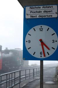 もうすぐ発車時間です