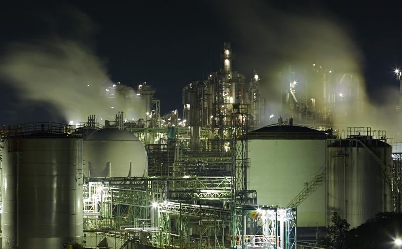 姫路にて工場夜景