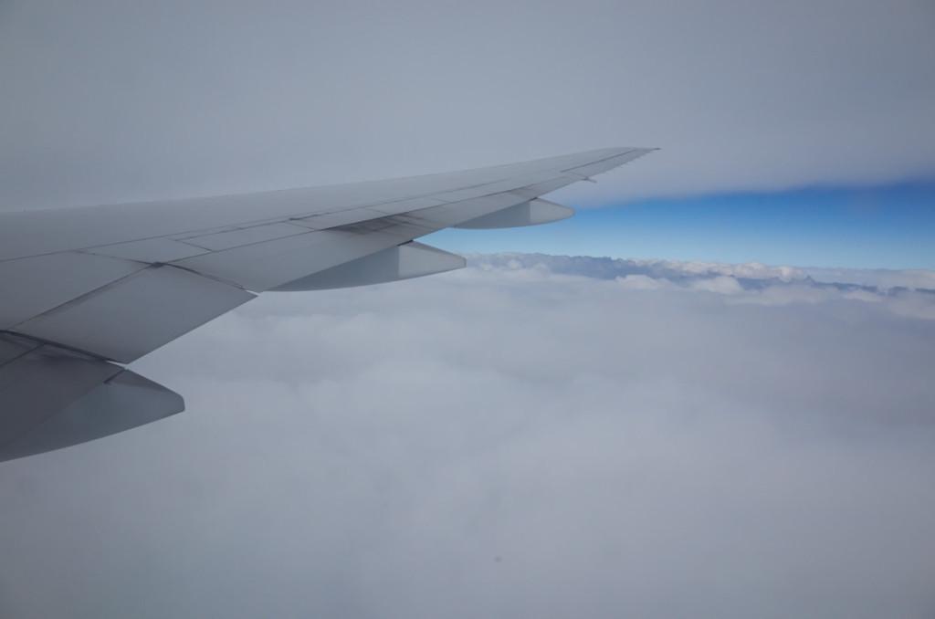 下界は厚い雲の中・・・