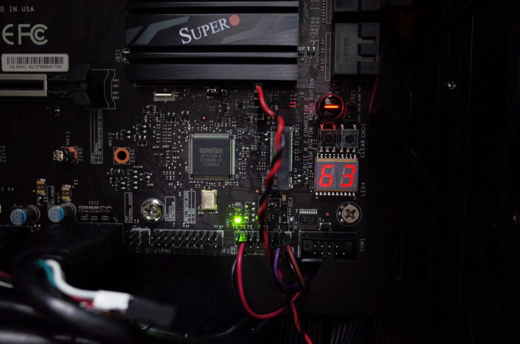 Supermicro C7Z370-CG-L エラー