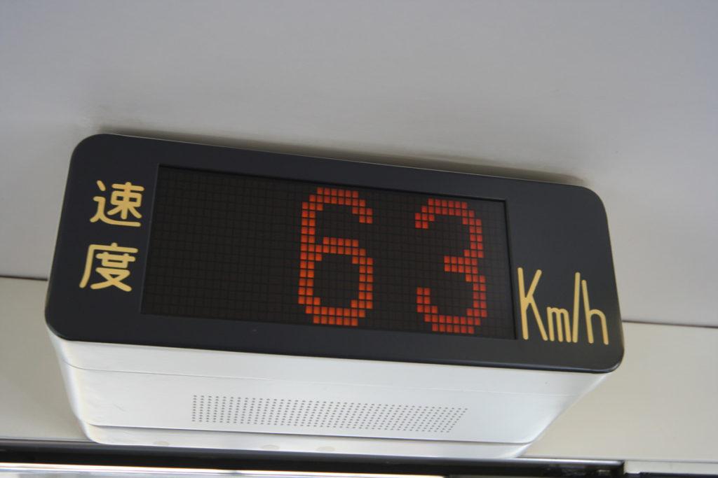 クロ381乗車記 速度計